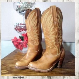 Frye Leather Country Western Heeled Boots